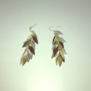 Gold, Silver, Bronze Earrings